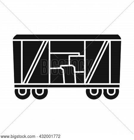 Vector Design Of Wagon And Cargo Icon. Web Element Of Wagon And Boxcar Stock Vector Illustration.