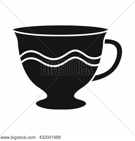Isolated Object Of Mug And Cup Sign. Graphic Of Mug And Ceramic Stock Vector Illustration.