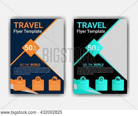 Travel Flyer Concept Vacation And Holidays Background