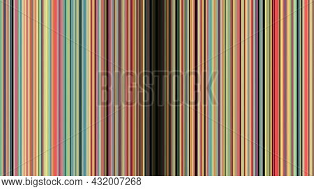 Colored Vertical Lines Diverge. Animation. Background Of Moving Vertical Lines Opening Portal To Cyb