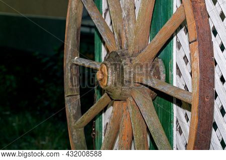 Swivel Wheel For Lifting A Bucket Of Water From A Well Close-up