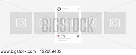 Kyiv, Ukraine - August 1, 2021: Interface Carousel Post As Instagram. Instagram Carousel Post Mockup