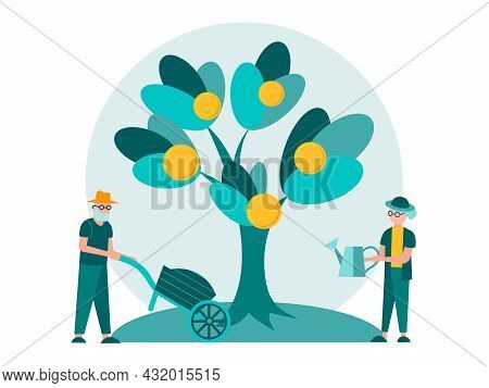 Pension Deposits, Income Growth For The Elderly, Social Assistance For The Elderly. A Couple Of Reti