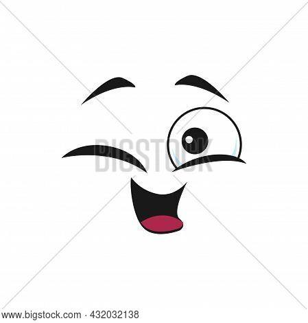 Emoticon Ok Gesture Winking Blinking Eye Isolated Happy Emoji Icon. Vector Naughty Eye Cheerful Posi