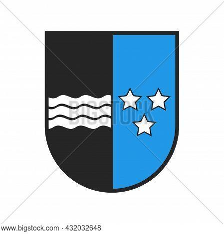 Switzerland Canton Coat Of Arms Flag, Swiss Aargau State Crest Shield, Vector Sign. Schweiz Kanton O