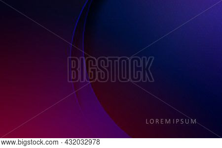 Dark Background Of Blue And Purple Gradient, Arched Curtains.