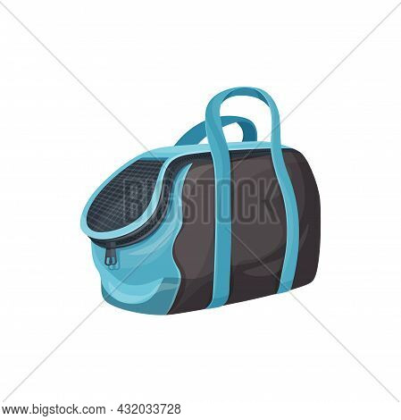 Dogs And Cats Carrier Bag Isolated Portable Sack Flat Cartoon Icon. Vector Transportation Travel Sac