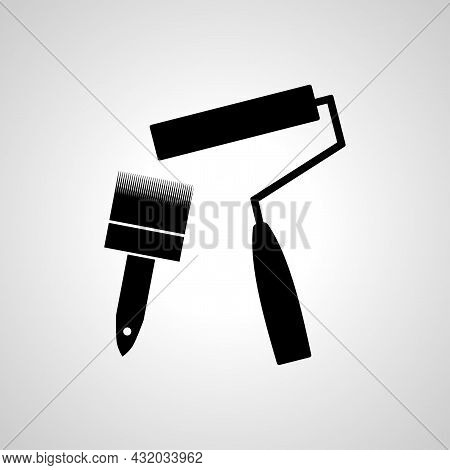 Painting Tools Vector Line Icon. Painting Tools Linear Outline Icon