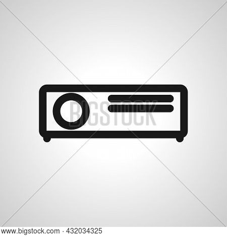 Projector Vector Simple Icon. Projector Isolated Vector Icon