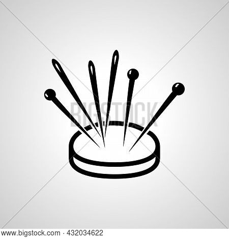 Needle Vector Line Icon. Needle Linear Outline Icon