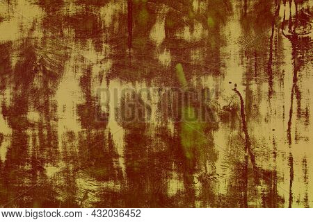 Wonderful Green Grunge Shabby Wood Table Texture - Abstract Photo Background