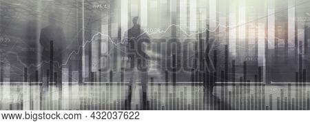 Universal Bw Financial Background For Your Website. Presentation Illustration