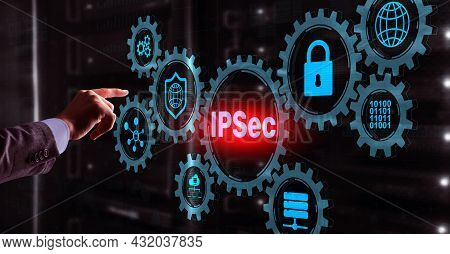 Ip Security. Data Protection Protocols. Ipsec. Internet And Protection Network Concept