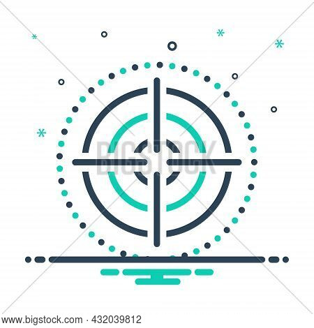 Mix Icon For Focus Target Goal Objective Viewfinder Strategy Dartboard Accuracy