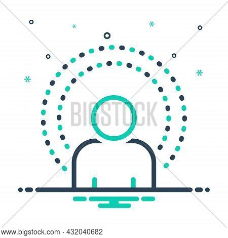 Mix Icon For Spirit Soul Life Psyche Meditation People Vitality