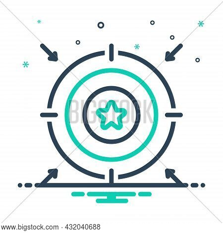 Mix Icon For Aim  Aiming Point Target Purpose Objective Goal Ambition Aspiration Accurate Successful