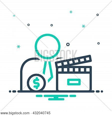 Mix Icon For Producer Maker Cinematography Entertainment Industry Cinema Movie Filmstrip Director