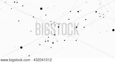 Biology Symbol Internet Design. Abstract Science Research Global Connectivity. Vector Connect Dots A