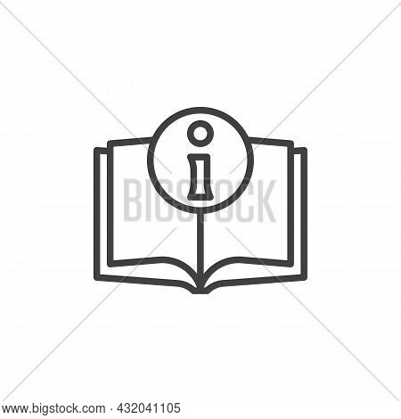 Information Book Line Icon. Linear Style Sign For Mobile Concept And Web Design. Manual, Info Outlin