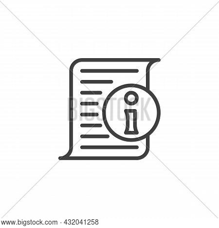 Help Desk Info Page Line Icon. Linear Style Sign For Mobile Concept And Web Design. Information List