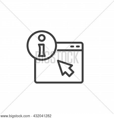 Webpage, Info Line Icon. Linear Style Sign For Mobile Concept And Web Design. Frequently Asked Quest