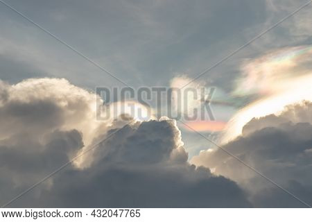 Beautiful Blue Sky With Clouds Background.sky Clouds, Sky With Clouds Weather Nature Cloud Blue. Ins