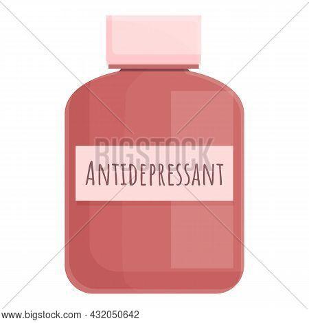 Psychiatric Pills Icon Cartoon Vector. Anxiety Problem. Mental Disorder
