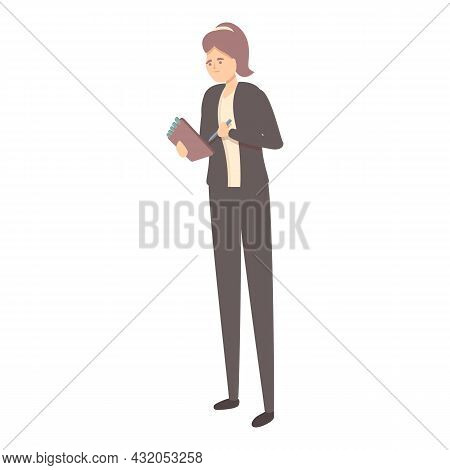 Corporate Event Manager Icon Cartoon Vector. Wedding Management. Business Training