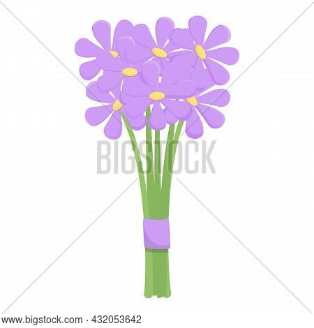 Flower Bouquet Icon Cartoon Vector. Floral Bunch. Romantic Flora