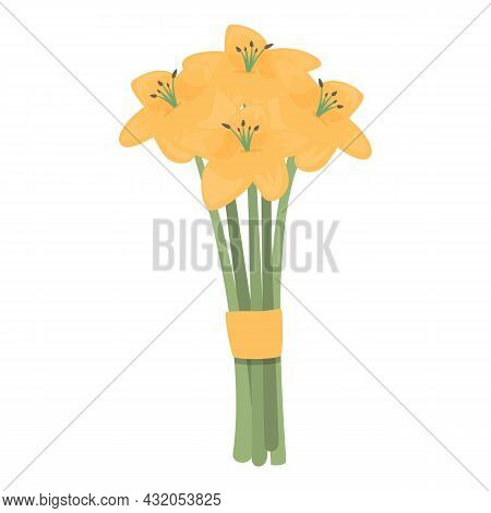 Bouquet Composition Icon Cartoon Vector. Flower Gift. Spring Bunch