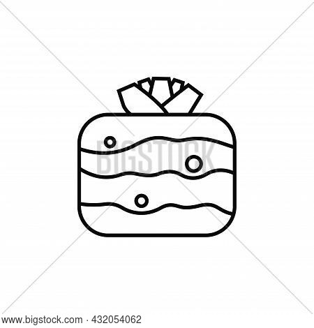 Root Crop. Icon Of Celery With Pattern On White