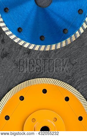 Above Is Part Of The Blue Diamond Cutting Wheel, And Below Is A Part Of The Yellow Diamond Cutting W