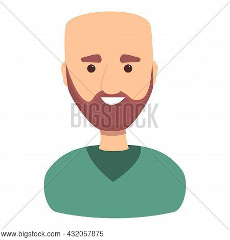 Bald Candidate Icon Cartoon Vector. Employee Person. Talent Search