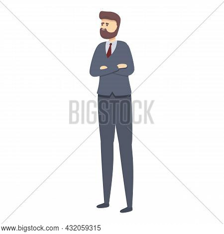 Businessman Icon Cartoon Vector. Business Person. Office Professional