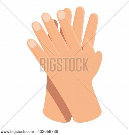 Handclap Icon Cartoon Vector. Hand Clap. Applause Crowd