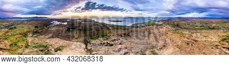 Aerial Panorama Of Of Doon Fort And Surroundings By Portnoo - County Donegal - Ireland.
