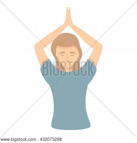 Zen Concentration Icon Cartoon Vector. Work Stress. Health Mind