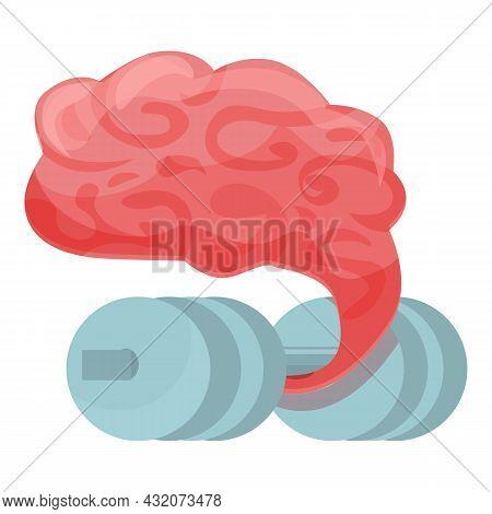 Brain Practice Icon Cartoon Vector. Work Concentration. Zen Mind
