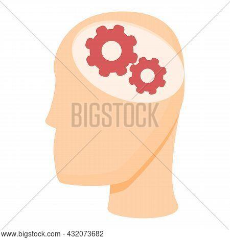 Zen Mind Icon Cartoon Vector. Stress Work. Exam Code