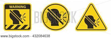 Set Keep Silence Symbol On White Background