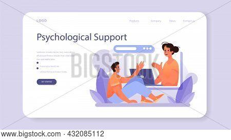 Psychologist Web Banner Or Landing Page. Mental Health Diagnostic