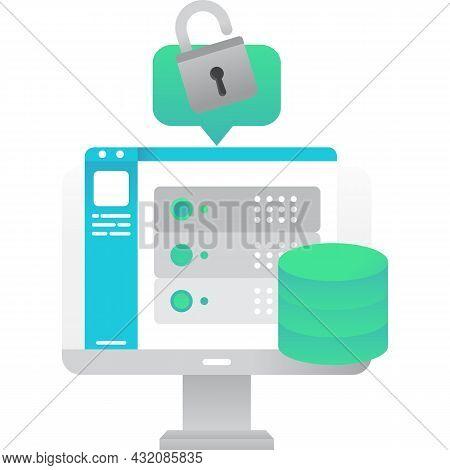 Database Icon Server For Data Storage Vector