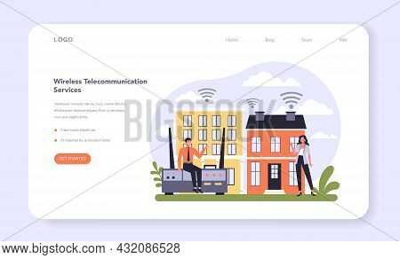 Internet Telecommunication Services Sector Of The Economy Web Banner