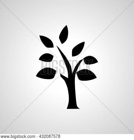 Tree Vector Simple Icon. Tree Isolated Vector Icon