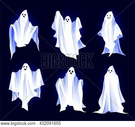 Spirit Or Ghost Icon Set, Fantasy Characters