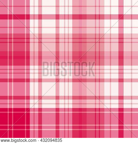 Seamless Pattern In Light And Bright Pink Colors For Plaid, Fabric, Textile, Clothes, Tablecloth And