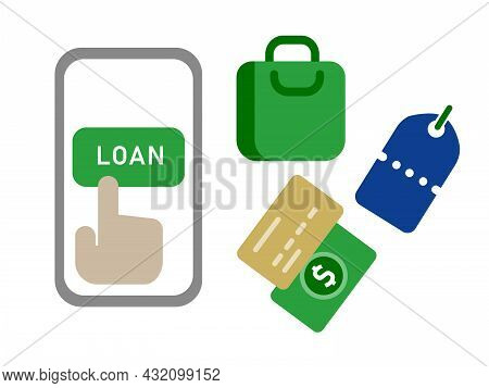 Online Mobile Peer To Peer Lending Loan Application Smartphone To Pay Buy Shopping