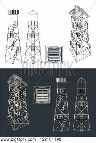 Guard Tower Blueprints