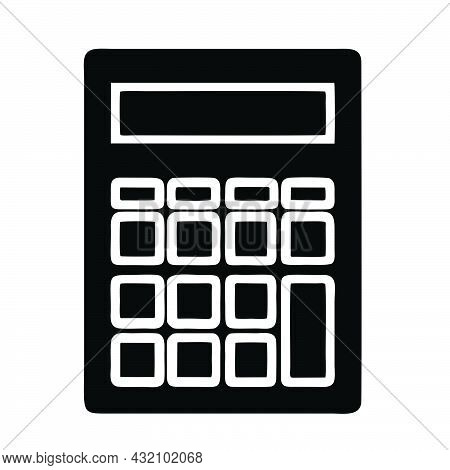 Calculator Icon Isolated On White Background From Business Collection. Calculator Icon Calculator Sy