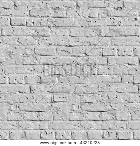 White Brick Wall Seamless Texture.